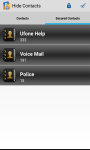Contacts Hide - Secure Your Contacts screenshot 3/4