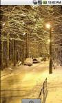 Winter Snow Street Live Wallpaper screenshot 1/4