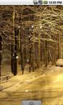 Winter Snow Street Live Wallpaper screenshot 2/4