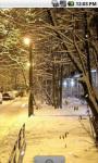 Winter Snow Street Live Wallpaper screenshot 3/4