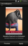 Naughty Elephant Live wallpaper screenshot 3/6