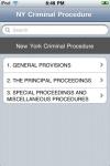 New York Code of Criminal Procedure (NY Law) screenshot 1/1