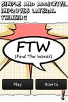 FTW - Find The Words screenshot 1/3