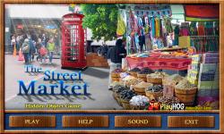 Free Hidden Object Game - Street Market screenshot 1/4