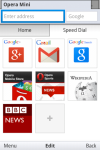 Opera Mini fast mobile browser screenshot 1/5