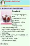 Simple Cake Recipes screenshot 2/2