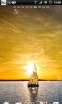 Sailing Sunset Sailboat Live Wallpaper screenshot 1/6
