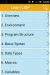 Learn LISP screenshot 1/2