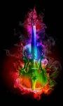 Colorful Fire Guitar Live Wallpaper screenshot 3/3
