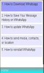 WhatsApp Installation Features screenshot 1/1