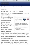 Montreal Hockey News and Rumors screenshot 1/1