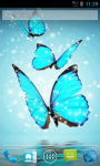 Cyan Butterfly Live Wallpaper screenshot 1/4