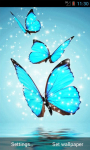 Cyan Butterfly Live Wallpaper screenshot 2/4