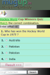 Hockey World Cup Winners Quiz screenshot 2/3