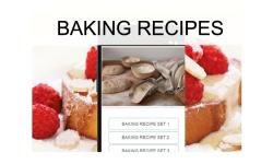 Baking recipes food screenshot 1/3