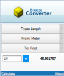 Breeze Units Converter screenshot 1/1