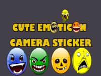 Cute Emoticon Camera Sticker screenshot 1/4