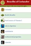 Benefits of Coriander screenshot 2/3