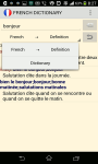Advanced  French Dictionary screenshot 2/3
