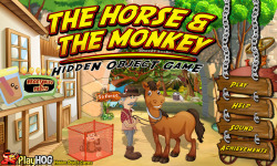 Free Hidden Object Games - The Horse n The Monkey screenshot 1/4