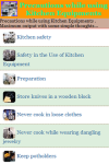 Precautions while using Kitchen Equipments screenshot 2/3