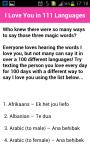 I Love You In 111 Languages screenshot 2/3
