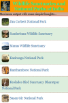 Wildlife Sanctuaries and National Parks of India screenshot 2/3
