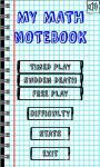 My Math Notebook screenshot 1/5