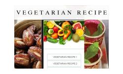 vegetarian recipes food screenshot 1/3