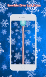 Snowflake Zipper Lock Screen screenshot 1/6