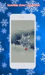 Snowflake Zipper Lock Screen screenshot 2/6