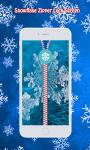 Snowflake Zipper Lock Screen screenshot 3/6