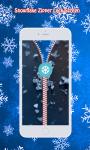 Snowflake Zipper Lock Screen screenshot 4/6
