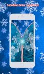 Snowflake Zipper Lock Screen screenshot 5/6