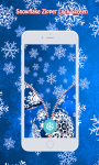 Snowflake Zipper Lock Screen screenshot 6/6