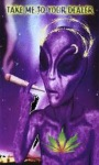 Alien Smokes Weed Live Wallpaper screenshot 1/2