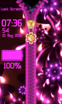 Glow Flower Zipper Lock Screen screenshot 5/6