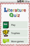 Literature Quiz Game screenshot 1/5