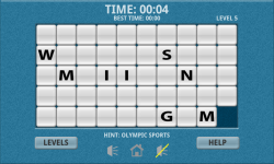 Olympic Sports Word Slide Puzzle Free screenshot 3/3