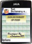 Sun Dictionary of Food screenshot 1/1