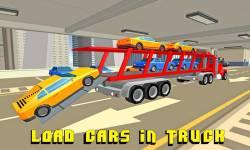Car Transporter Truck: Blocky screenshot 1/4