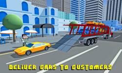Car Transporter Truck: Blocky screenshot 3/4