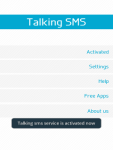 Talking SMS Lite screenshot 4/6