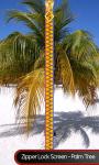 Zipper Lock Screen - Palm Tree screenshot 1/6