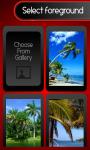 Zipper Lock Screen - Palm Tree screenshot 3/6