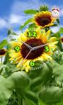 Flower Flashlight Clock  Live Wallpaper screenshot 2/3