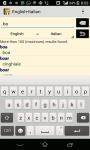English -  Italian Dictionary screenshot 1/3