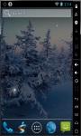 Snowy Trees Real Live Wallpaper screenshot 2/2