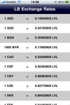 The Bank of Latvia Exchange Rates screenshot 1/1