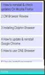 Browsers Installation /usage screenshot 1/1